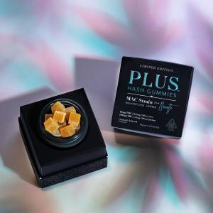 The MAC is back! @PlusProductsTHC x @BiscottiOfficial teamed up to make these exclusive gummies with single strain, solventless, ice water hash.